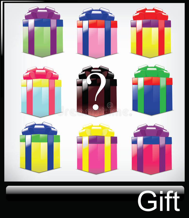 Download Multicolored gift- stock vector. Illustration of accessory - 13196560