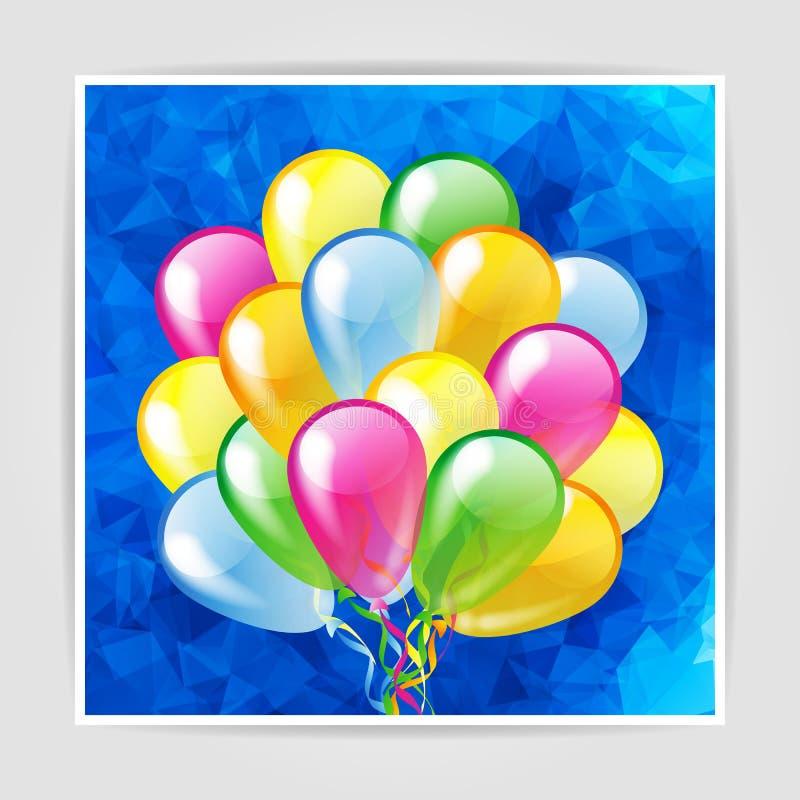 Multicolored glanzende ballons stock illustratie