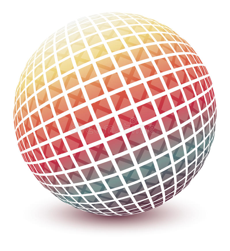 Multicolored globe. royalty free illustration
