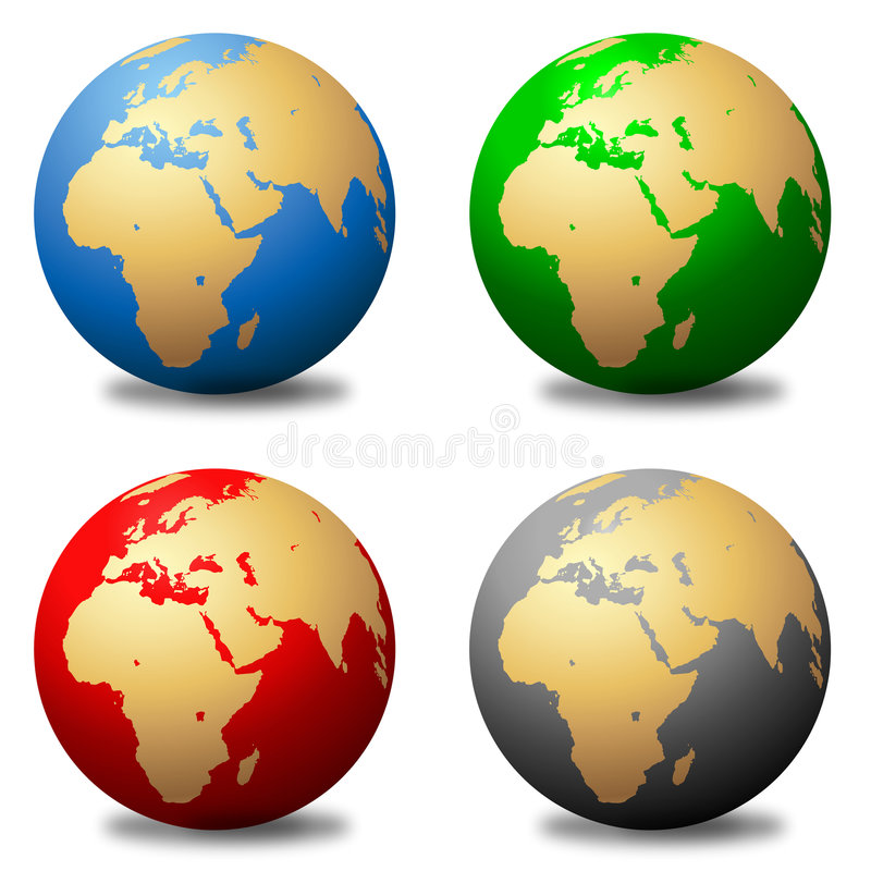 Download Multicolored Globes stock illustration. Illustration of artwork - 9231016