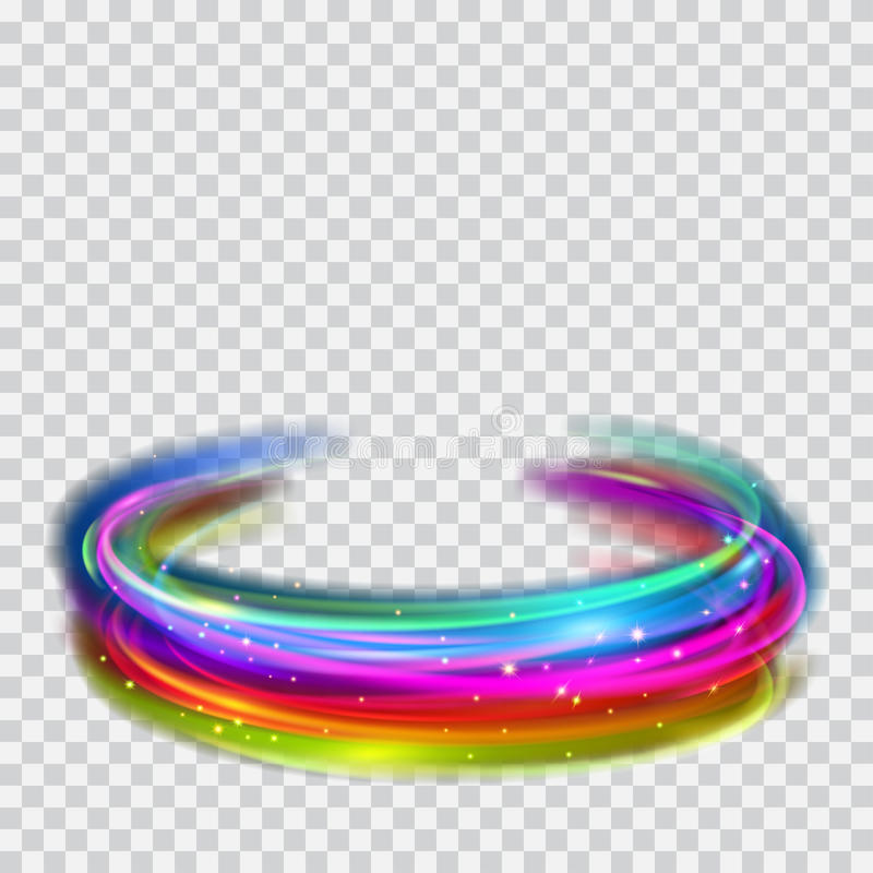 Free Multicolored Glowing Fire Rings With Glitters Stock Photography - 95051052