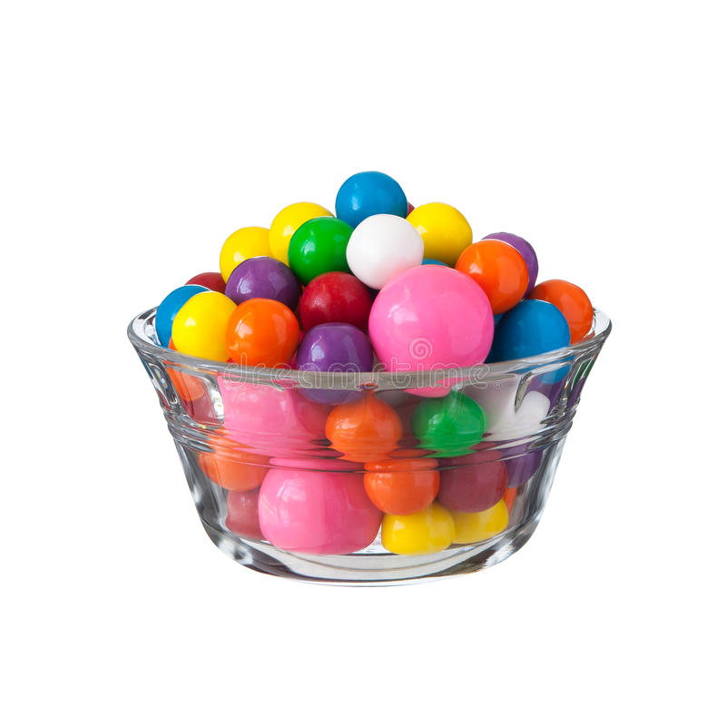Multicolored gumballs bubble gums royalty free stock images