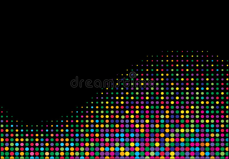 Multicolored halftone golf stock illustratie