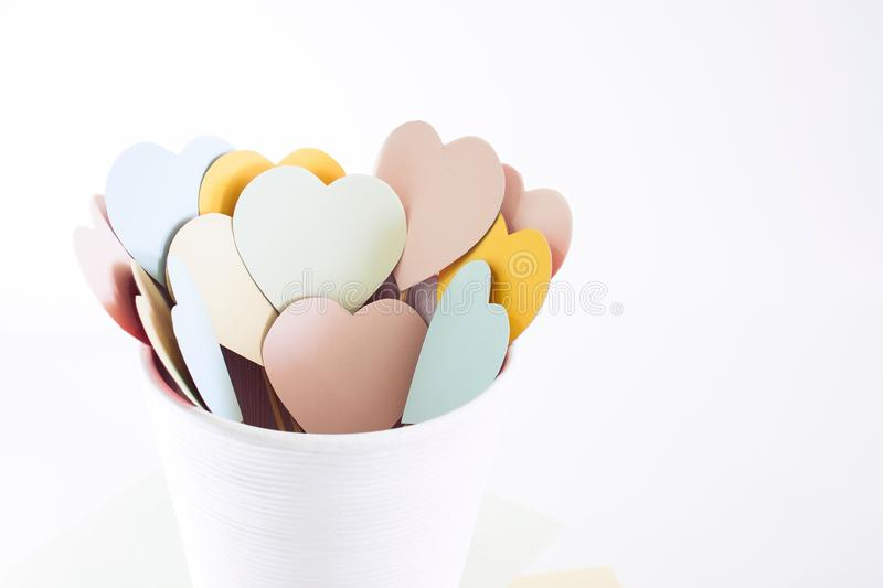 Multicolored harten stock fotografie