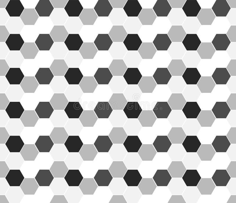 Multicolored hexagon geometric seamless. Background vector illustration