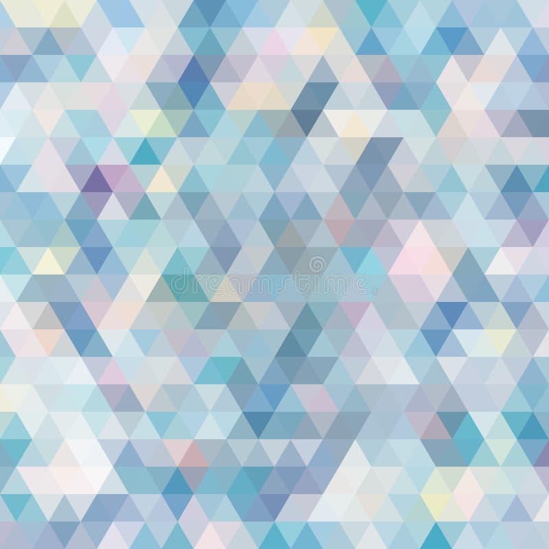 Multicolored hoekig wattled patroonachtergrond royalty-vrije illustratie