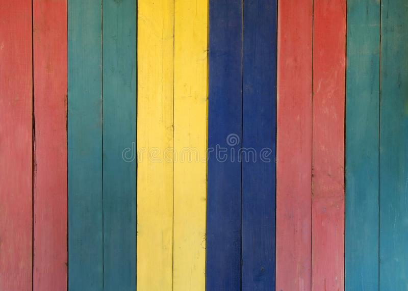 Multicolored houten achtergrond stock foto's