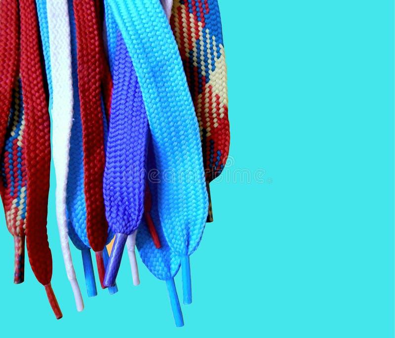 Download Multicolored kant stock afbeelding. Afbeelding bestaande uit schoenveter - 54085605