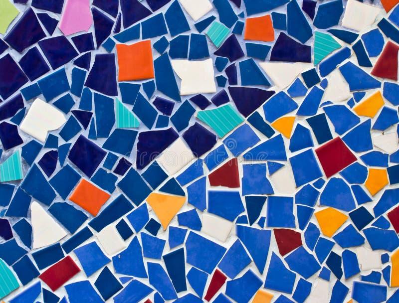 Multicolored kleine tegels royalty-vrije stock afbeelding