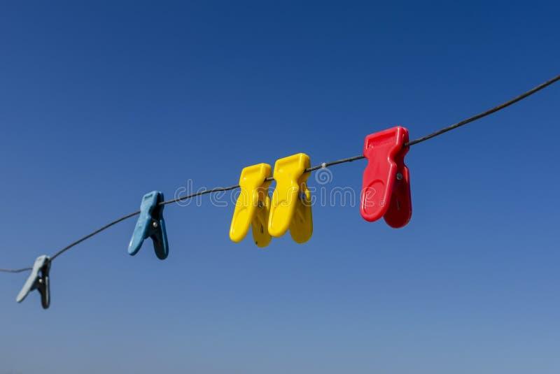 Multicolored klerenklem stock foto's