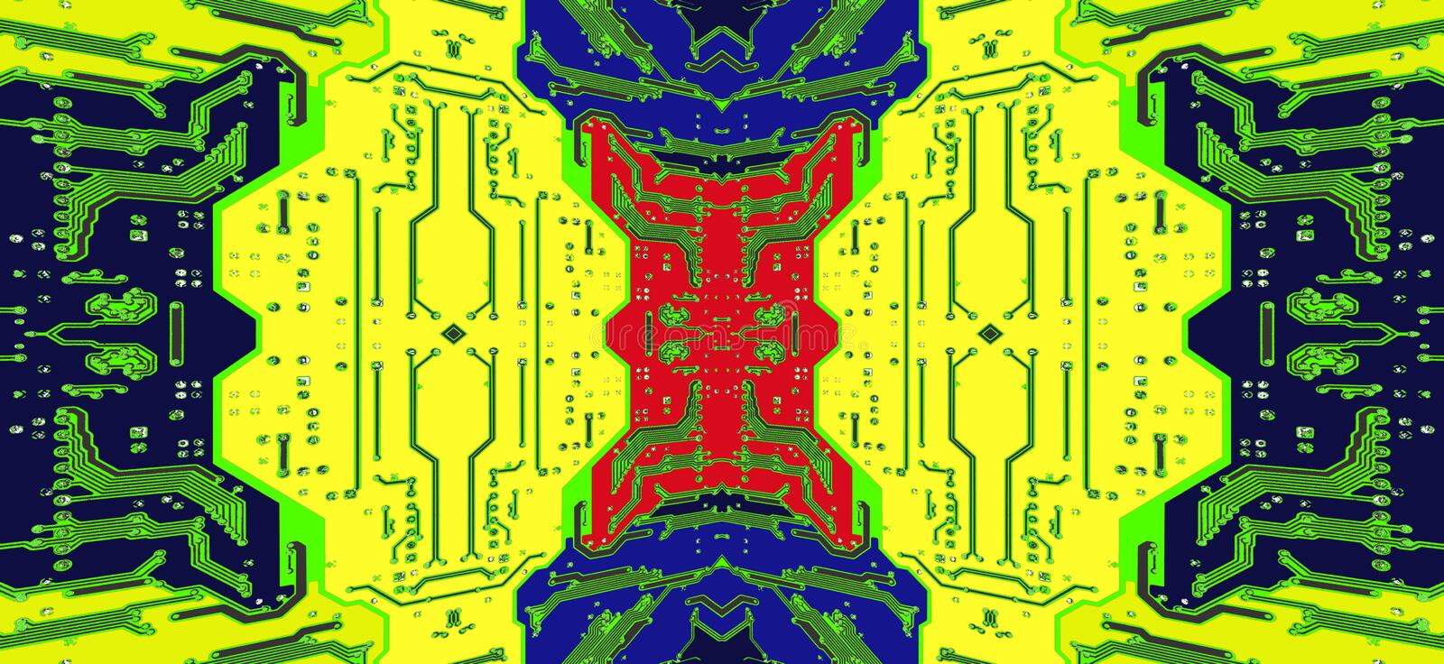 Multicolored kringsraad als abstracte technologieachtergrond vector illustratie