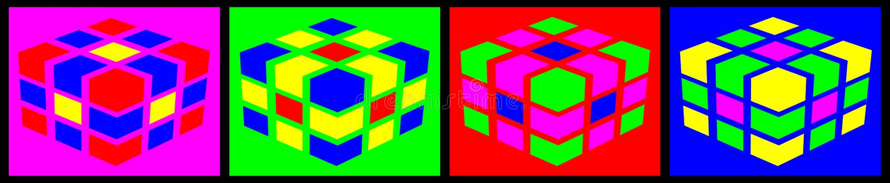 Multicolored Kubussen stock fotografie