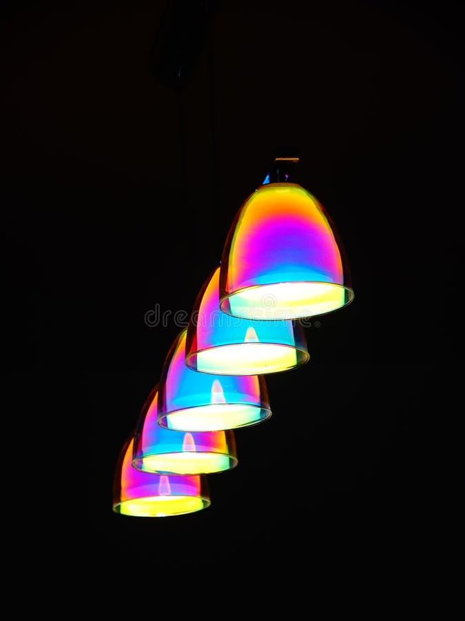 Multicolored lichten zoals een raimbow stock afbeeldingen