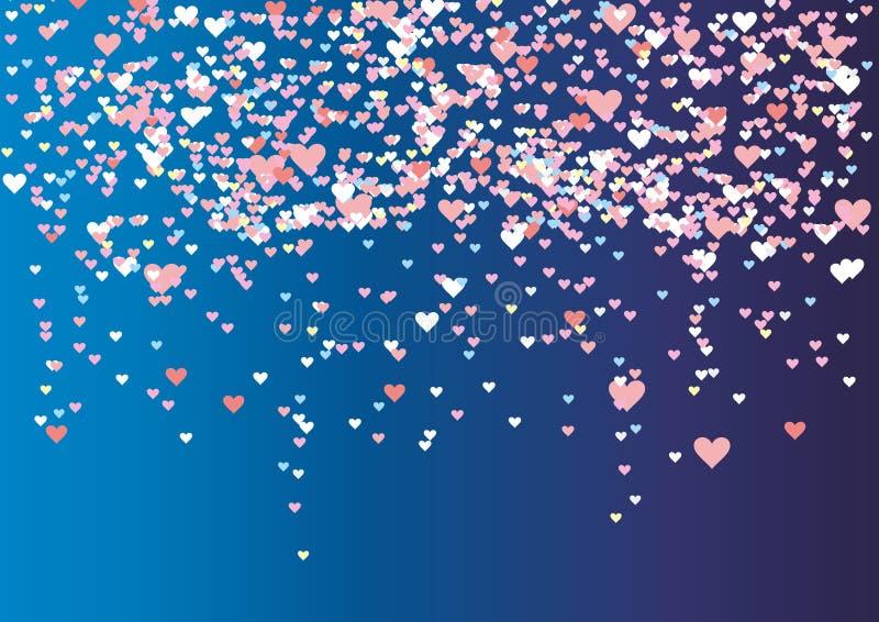 Multicolored lovertjeskronkelweg in de vorm van hart royalty-vrije illustratie