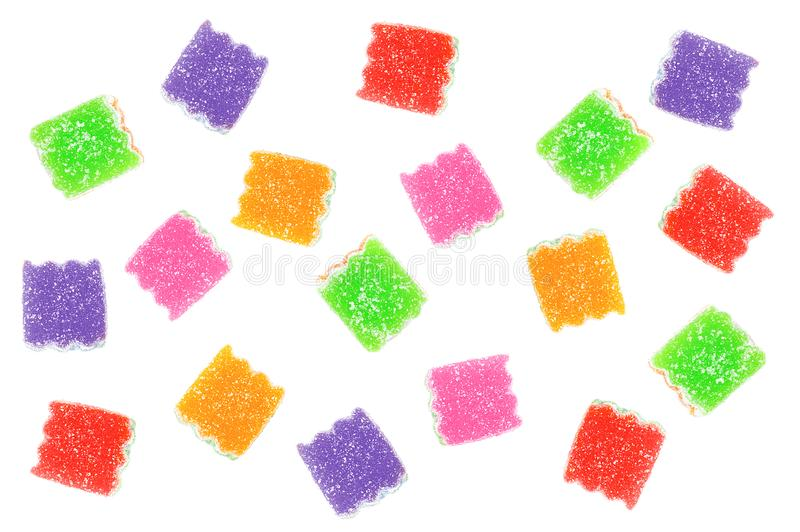 Multicolored marmalade sweets. stock photography