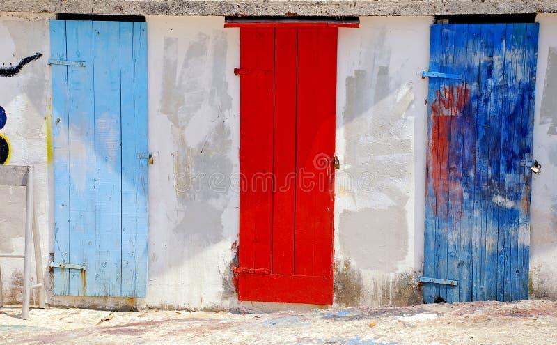 Download Multicolored Mediterranean Run-down Doors Stock Image - Image of entrance, beautiful: 26546845