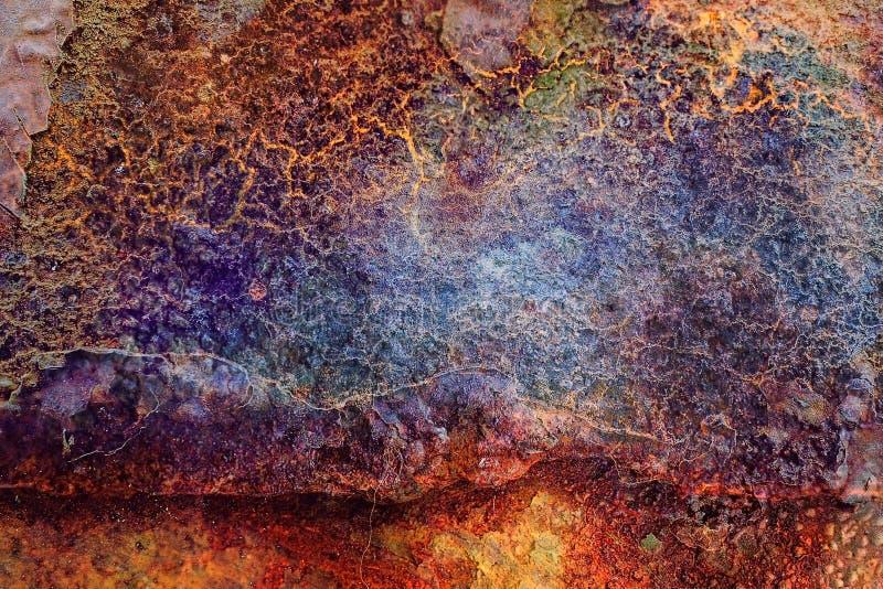 Multicolored metaalachtergrond stock fotografie