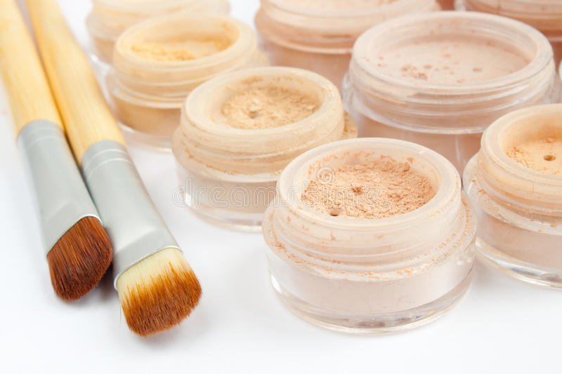 Download Multicolored Mineral Make-up, Brushes Stock Photo - Image: 21591896