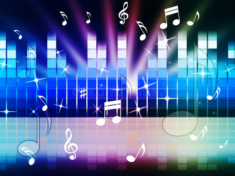 Download Multicolored Music Background Shows Playing Tune Or Metal Stock Illustration - Illustration of tune, classical: 42080632