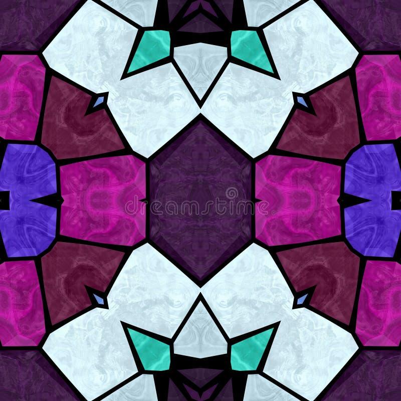 Multicolored naadloze caleidoscoop van het textuurpatroon royalty-vrije illustratie