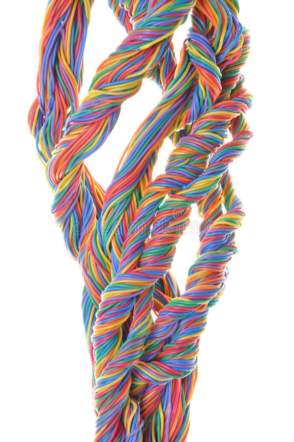Download Multicolored Network Computer Cables Stock Image - Image: 33932899