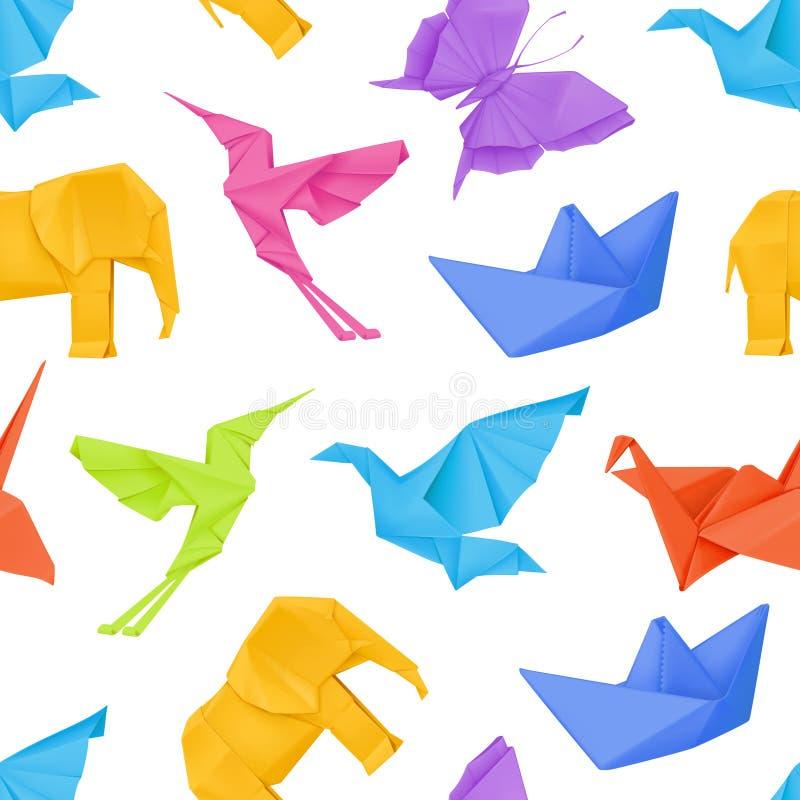 Multicolored origami pattern. Multicolored origami, vector seamless pattern vector illustration