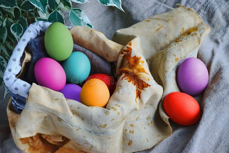 Multicolored paaseieren royalty-vrije stock foto