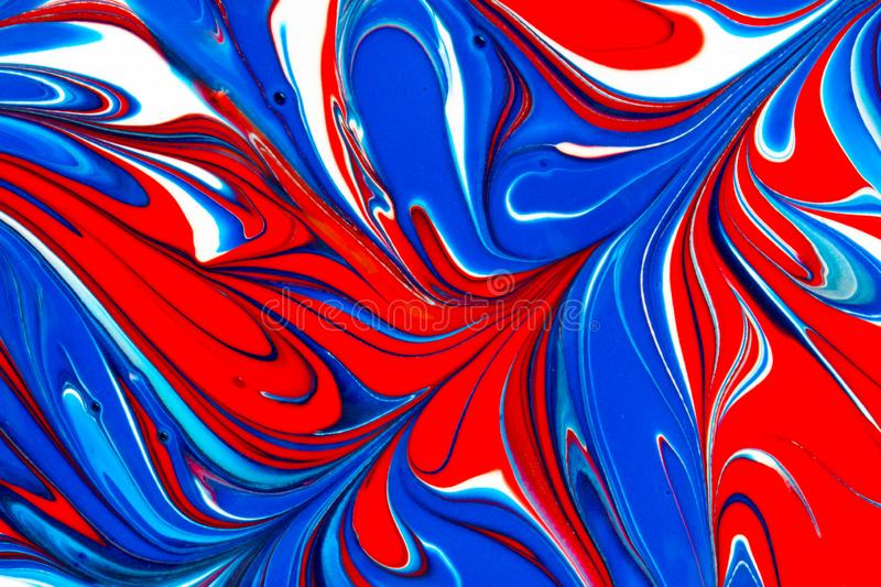 Multicolored paint swirls abstract background royalty free illustration