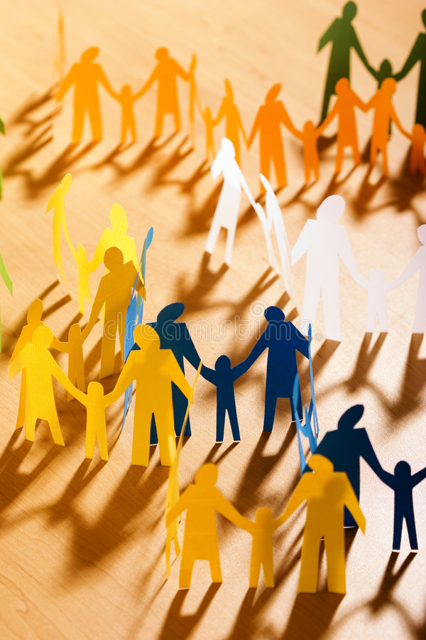 Free Multicolored Papery People Stock Photo - 644610
