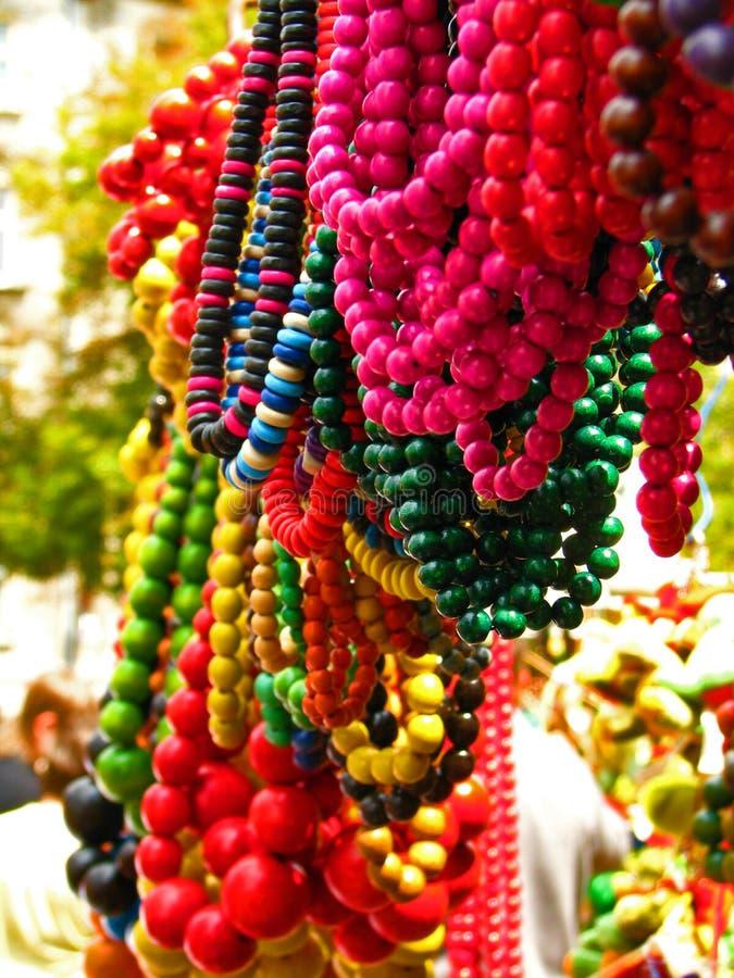 Multicolored Parels stock foto's