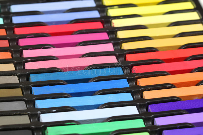 Multicolored Pastel Chalks Royalty Free Stock Photos
