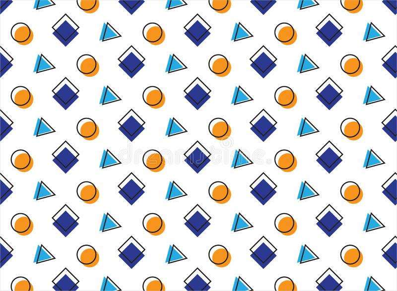 Multicolored pattern on a wite background. Blue and orange elements. You can use it as a background for your projects vector illustration
