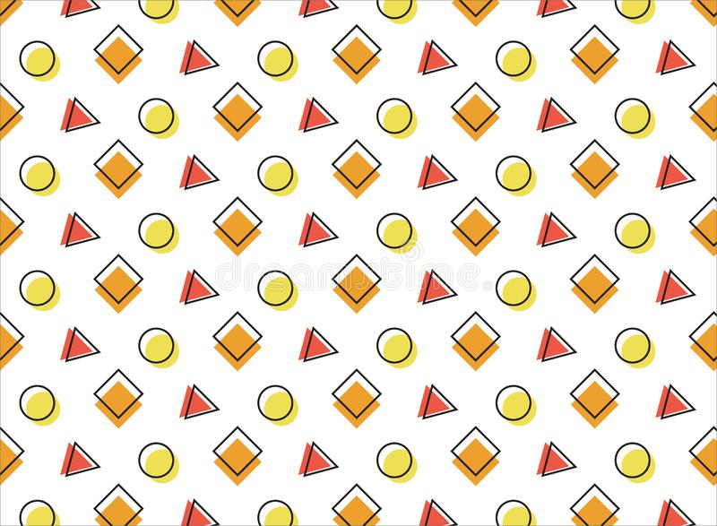 Multicolored pattern on a wite background. Orange, red and yellow elements. You can use it as a background for your projects stock illustration
