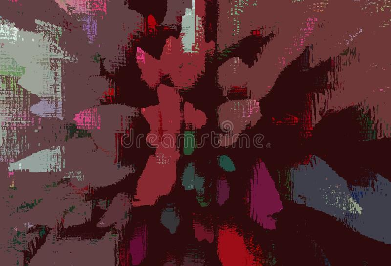 Multicolored patterned fantasy background with explosion effect royalty free illustration