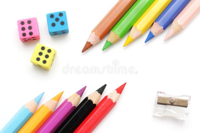 Download Multicolored pencils stock photo. Image of eraser, color - 10666402