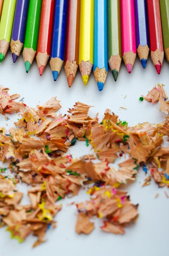 Multicolored Pencils Stock Photography