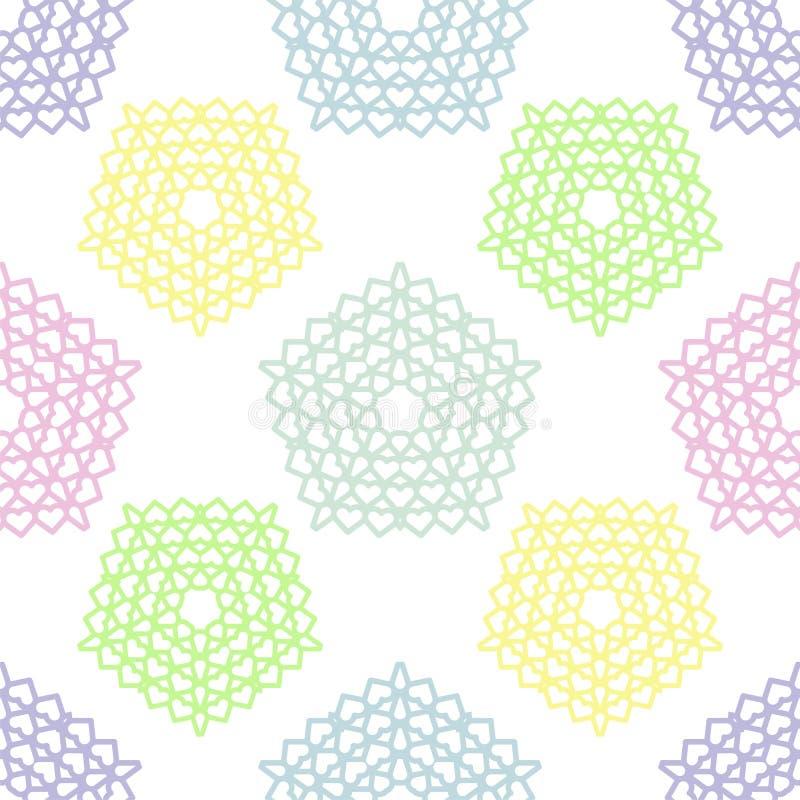 Festive pastel colors seamless pattern vector illustration