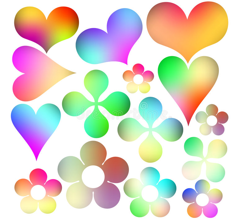 Multicolored pictogrammen royalty-vrije illustratie