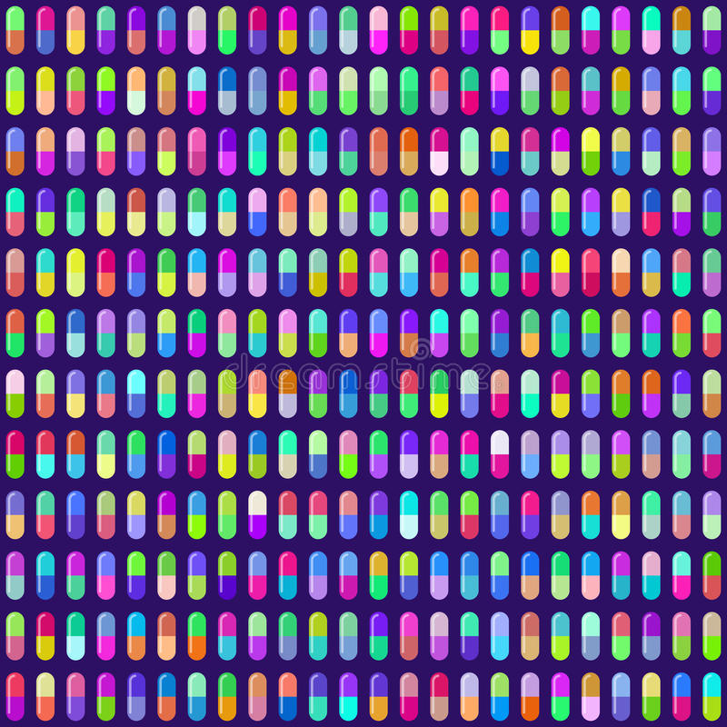 Multicolored Pill Capsules Seamless Background. EPS10 Vector. Multicolored Pill Capsules Seamless Background. Colors are randomly assigned. EPS10 Vector with vector illustration
