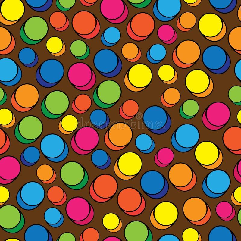 Multicolored pills of seamless pattern stock illustration
