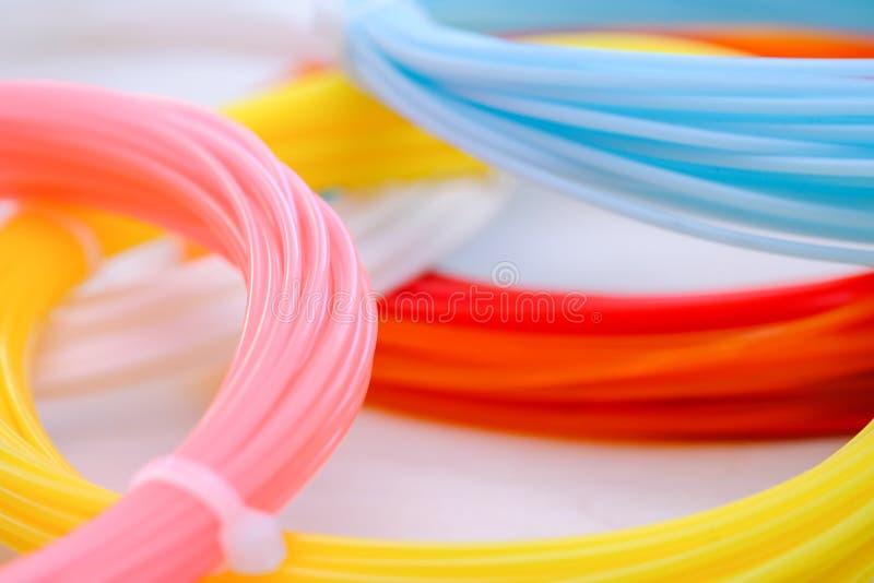 Multicolored plastic achtergrond van ABS/PLN royalty-vrije stock afbeelding