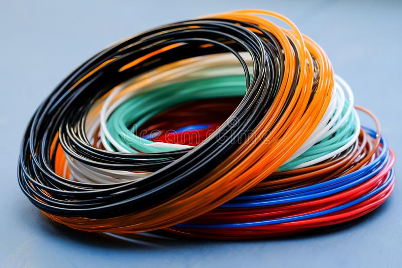 Multicolored plastic achtergrond van ABS/PLN stock fotografie