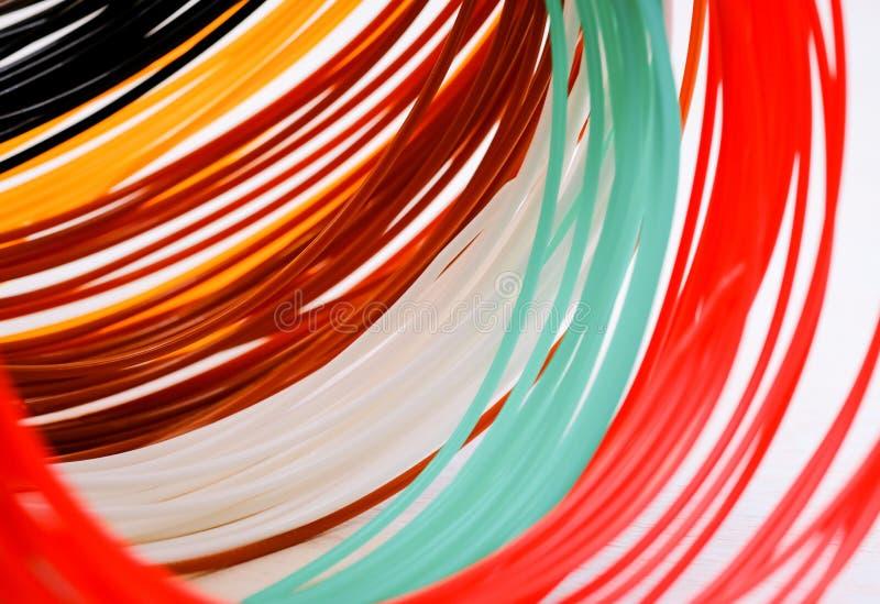 Multicolored plastic achtergrond van ABS/PLN royalty-vrije stock foto's
