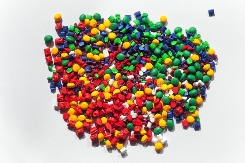 Multicolored plastic korrels royalty-vrije stock foto