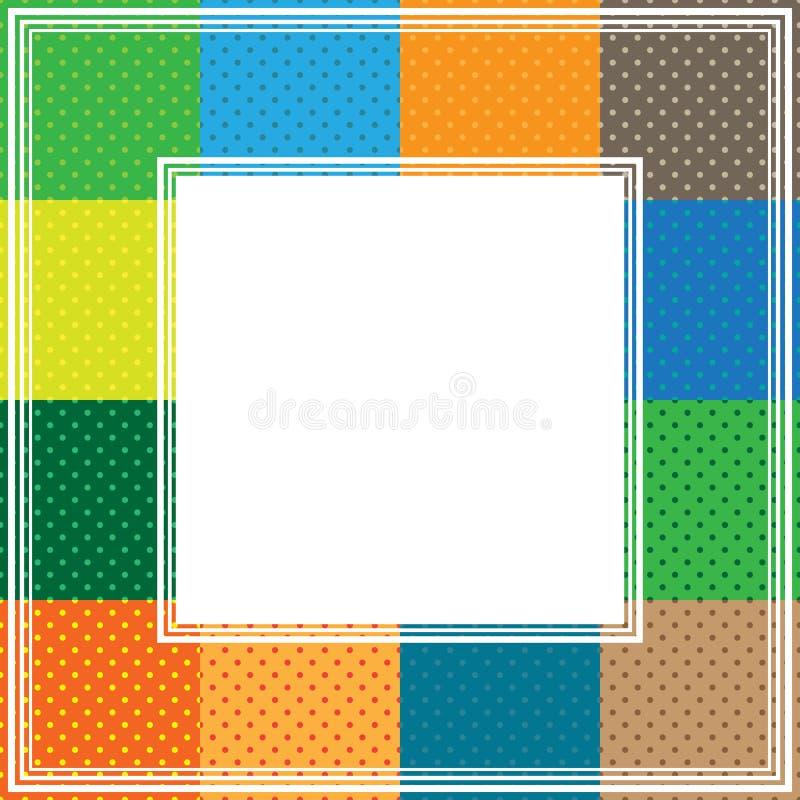 Multicolored polka dot border royalty free illustration