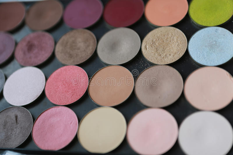 Multicolored Powder On Black Background stock photo