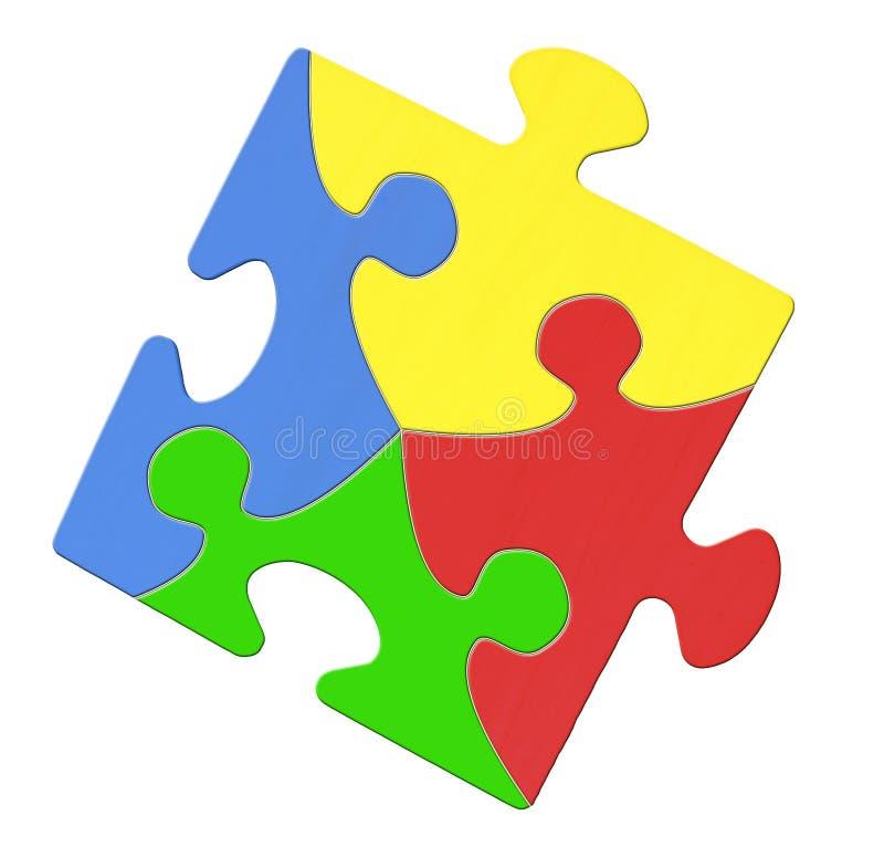 Download Multicolored Puzzle Piece Symbolizing Autism Awareness Stock Image - Image: 23052755