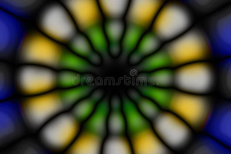 Multicolored radiaal cirkel donker patroon royalty-vrije stock afbeeldingen