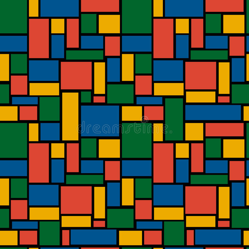 Download Multicolored Rectangle Seamless Pattern Stock Vector - Image: 26000815