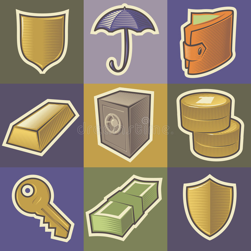 Download Multicolored Security Icons Stock Vector - Image: 8670852